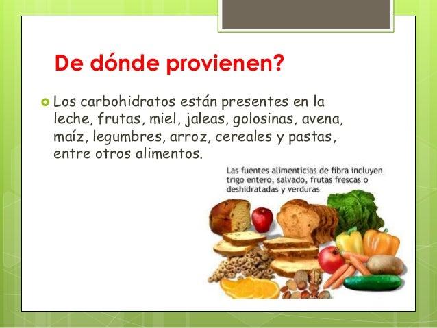 alimentos bajos en carbohidratos pdf