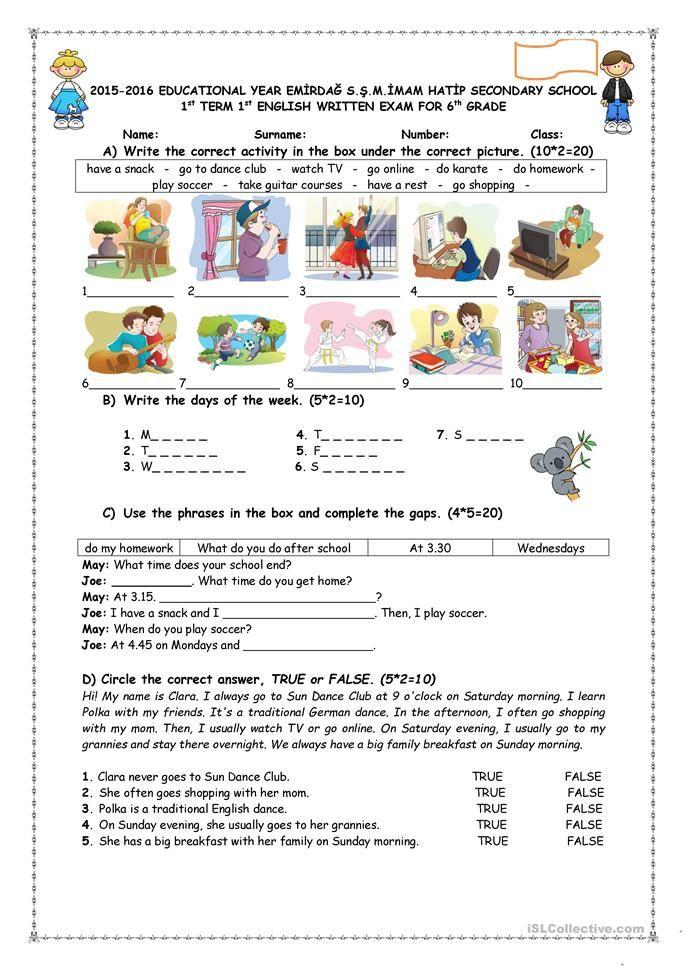 daily routines simple present worksheet pdf