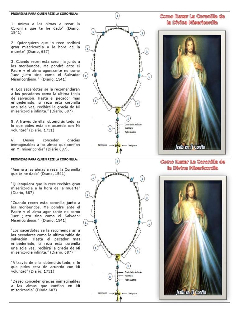 como rezar la coronilla dela divina misericordia pdf