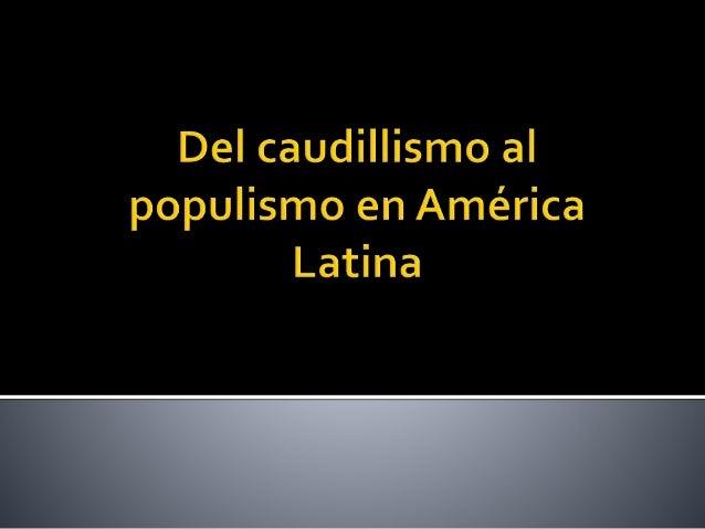 caudillismo en america latina pdf