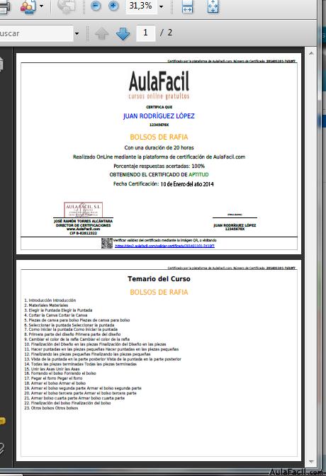 como envio certificados en pdf