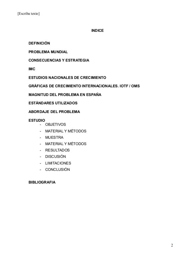 definicion de obesidad infantil segun la oms pdf
