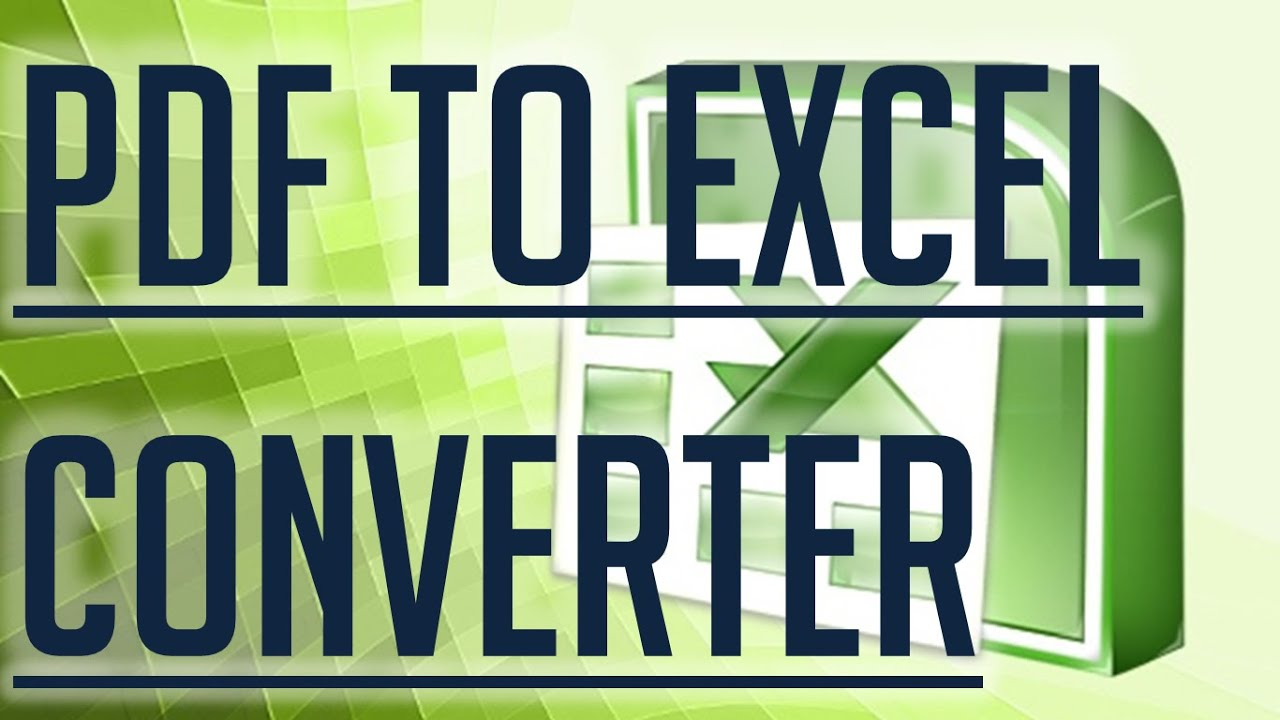 convertir pdf a excel full