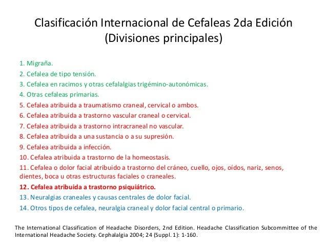 clasificacion internacional de cefaleas 2018 pdf