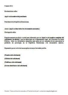 cartas de solicitud hacia la superintendencia