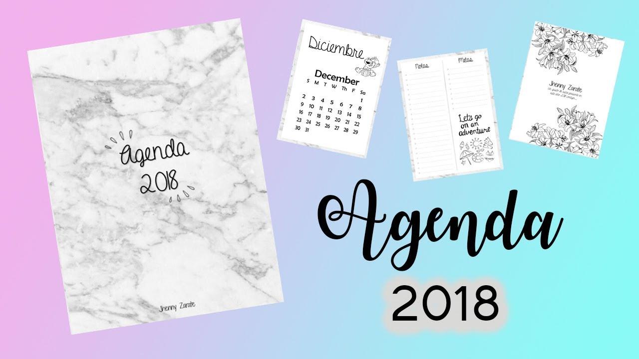 agendas imprimibles 2018 gratis pdf