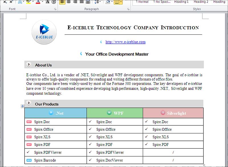 convert word to pdf c#