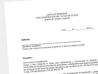 como redactar carta de renuncia solicitud