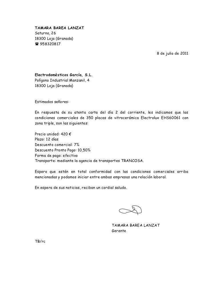 carta de solicitud en ingles