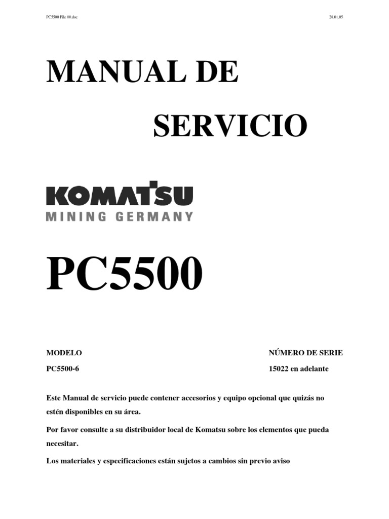 camion minero komatsu hd 465 pdf