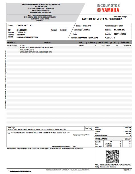 como ordenar pago facturas pdf
