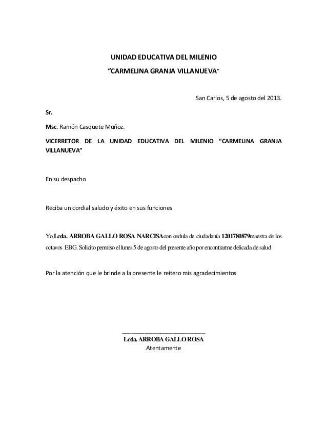 carta de solicitud de permiso de venta