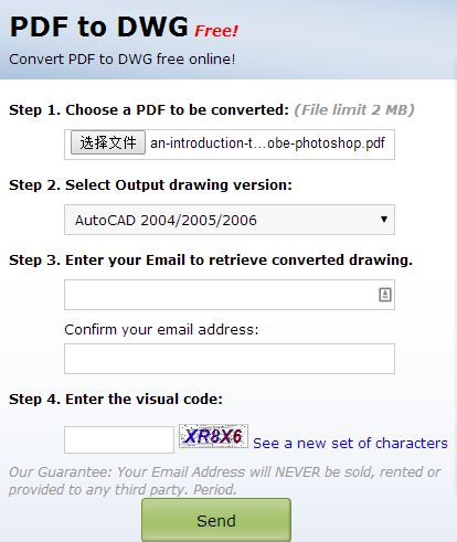 convert file from pdf to dwg