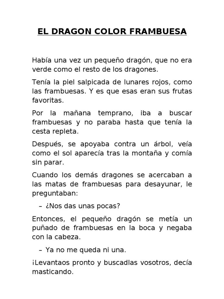 cuento el dragon color frambuesa pdf gratis