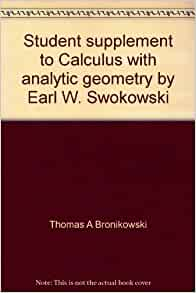 calculus with analytic geometry earl w swokowski pdf