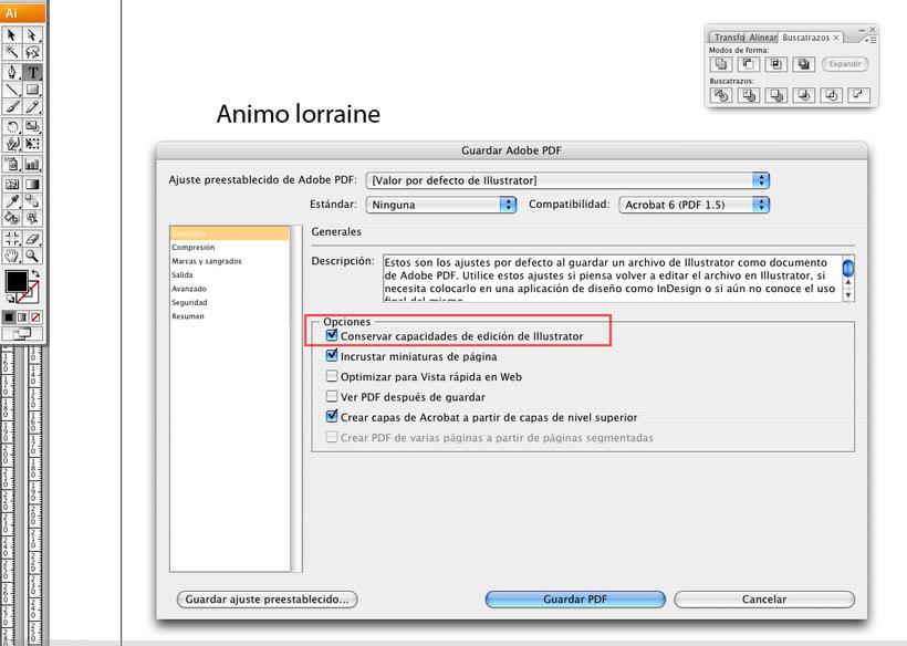 ajuste preestablecido de adobe pdf