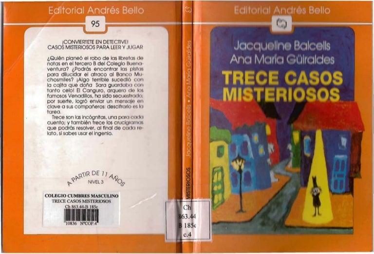 13 casos misteriosos pdf libro completo