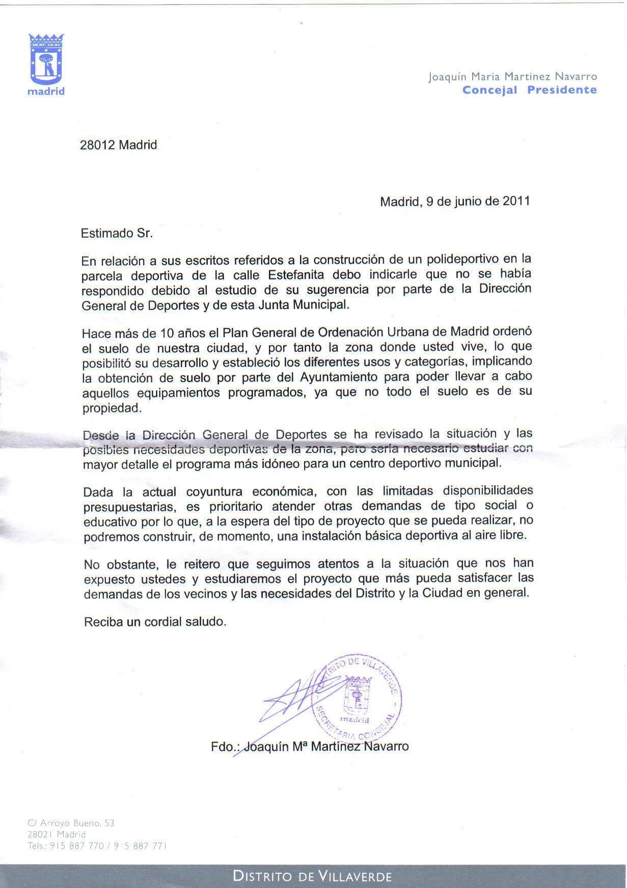 carta de solicitud de materialesal municipio