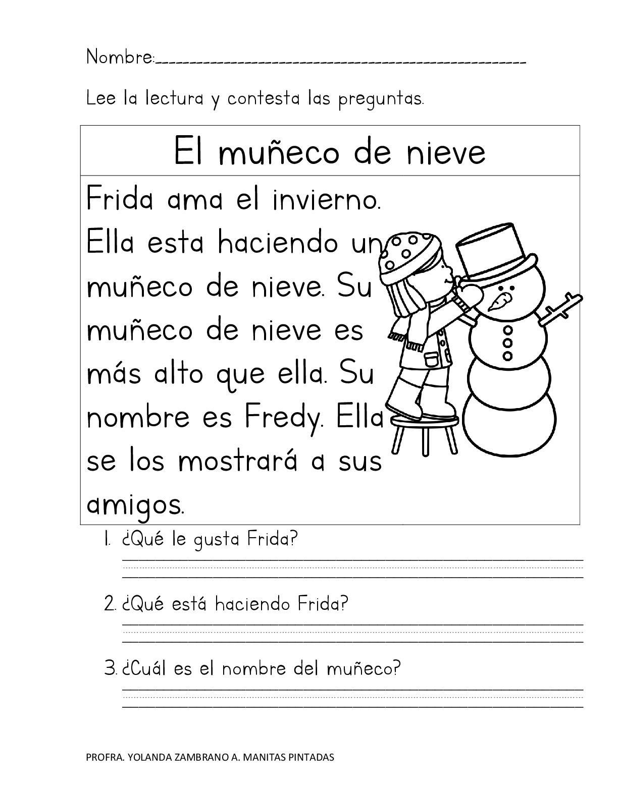 actividades de comprension lectora para 7 grado pdf