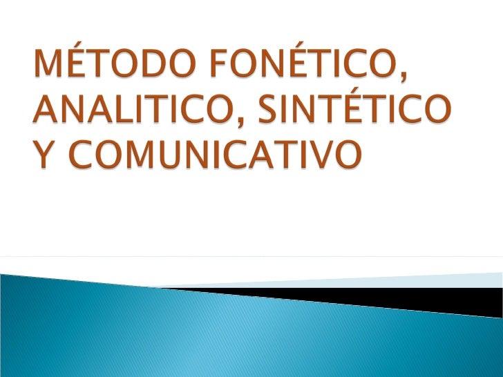 actividades para trabajar el metodo eclectico pdf