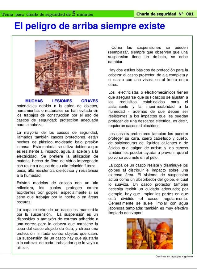 charlas de seguridad 5minutos pdf
