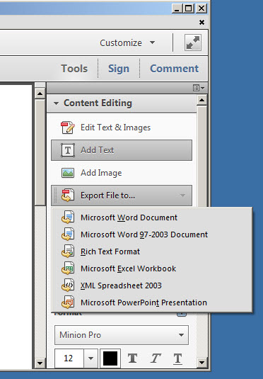 adobe reader editor pro pdf