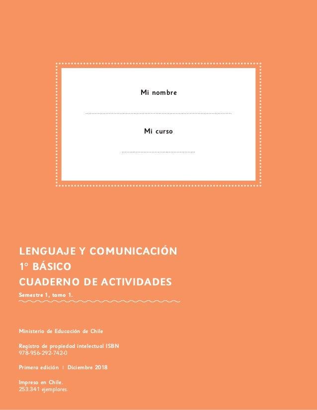cuadernillo lenguaje primero basico pdf