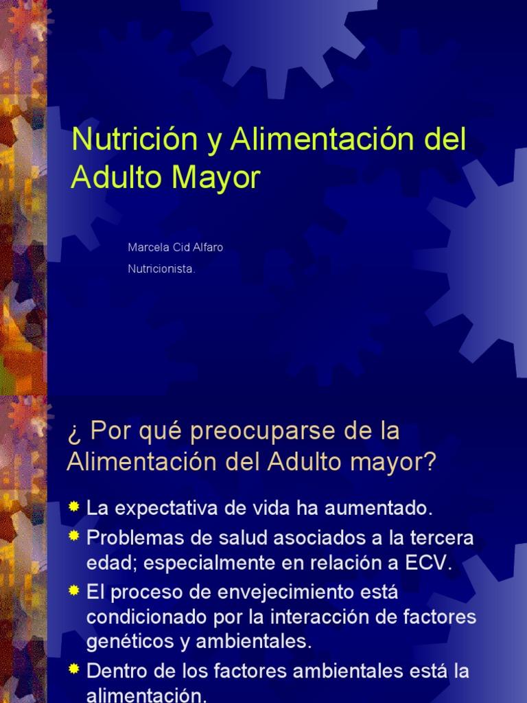 adulto mayor y alimentacion chile pdf