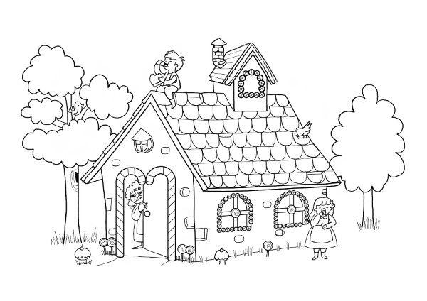 cuento hansel y gretel con imagenes para colorear pdf
