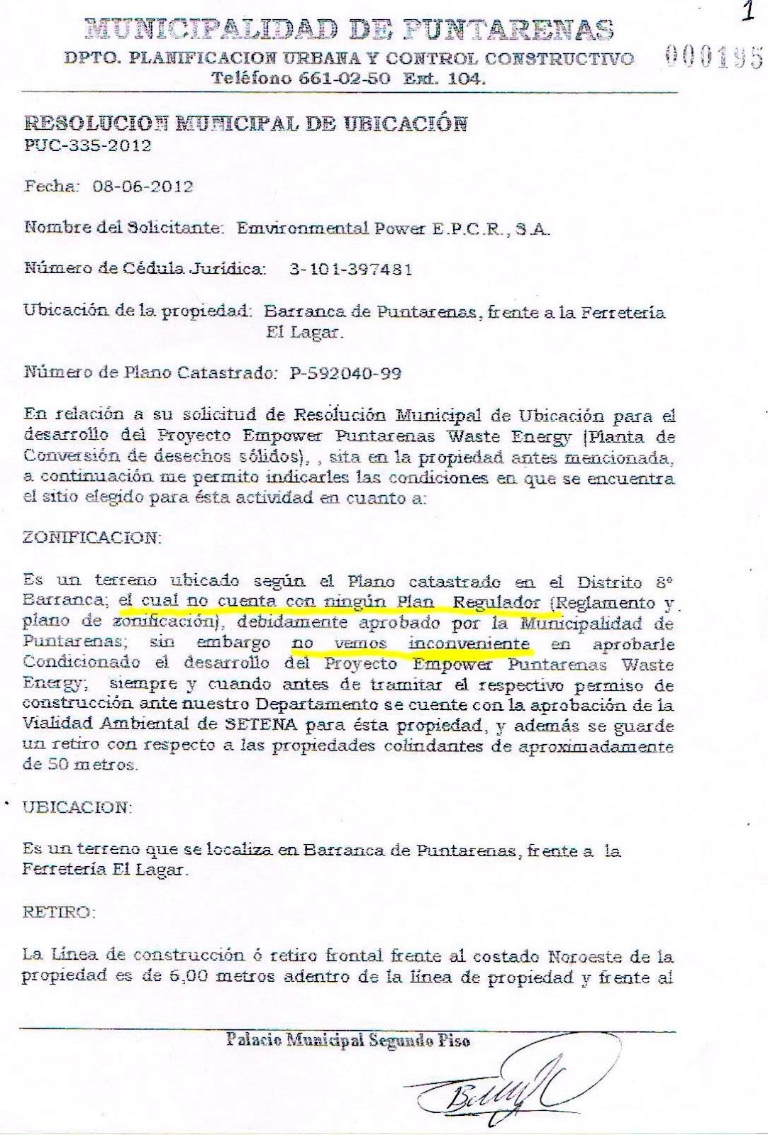 carta de solicitud de uso de cambio de suelo