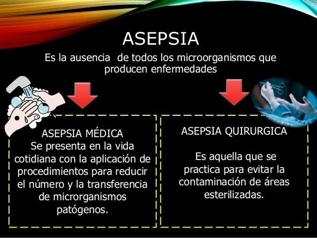 asepsia y antisepsia pdf 2017