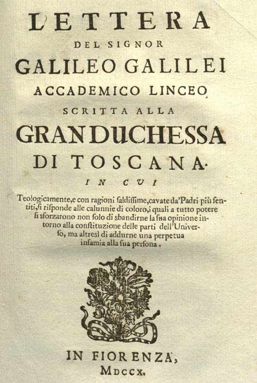 carta de galileo galilei a la duquesa de toscana pdf