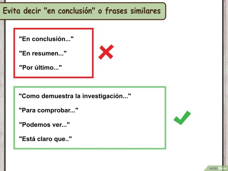 como hacer una conclusion pdf
