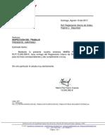 carta formato solicitud prorroga seremi de salud chile