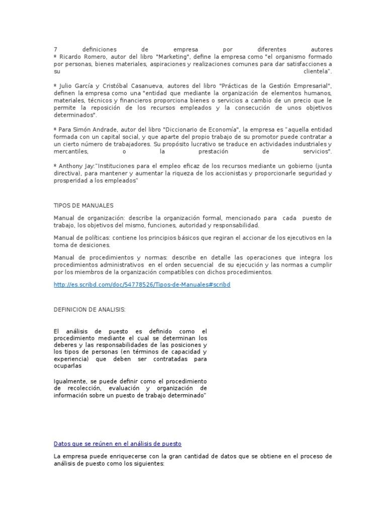 definicion de autismo por diferentes autores pdf