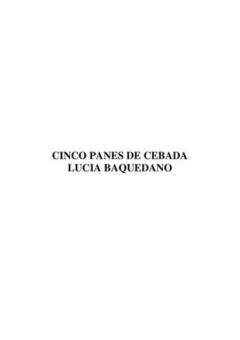 cinco panes de cebada lucia baquedano pdf