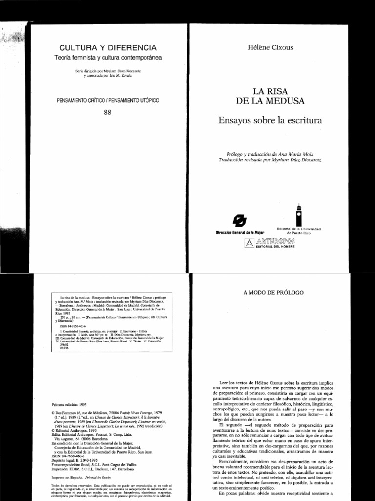 cixous la risa de la medusa pdf