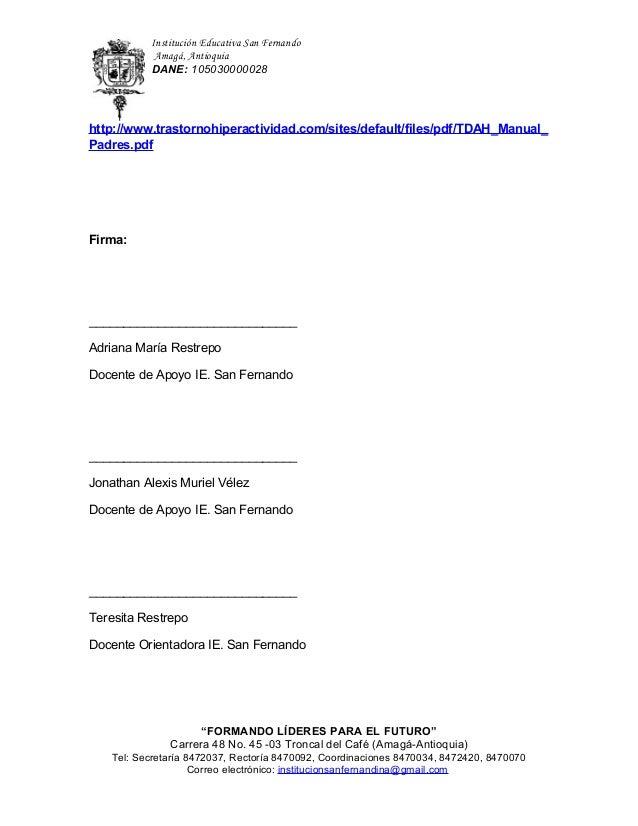 consecuencias de no tratar el tdah pdf