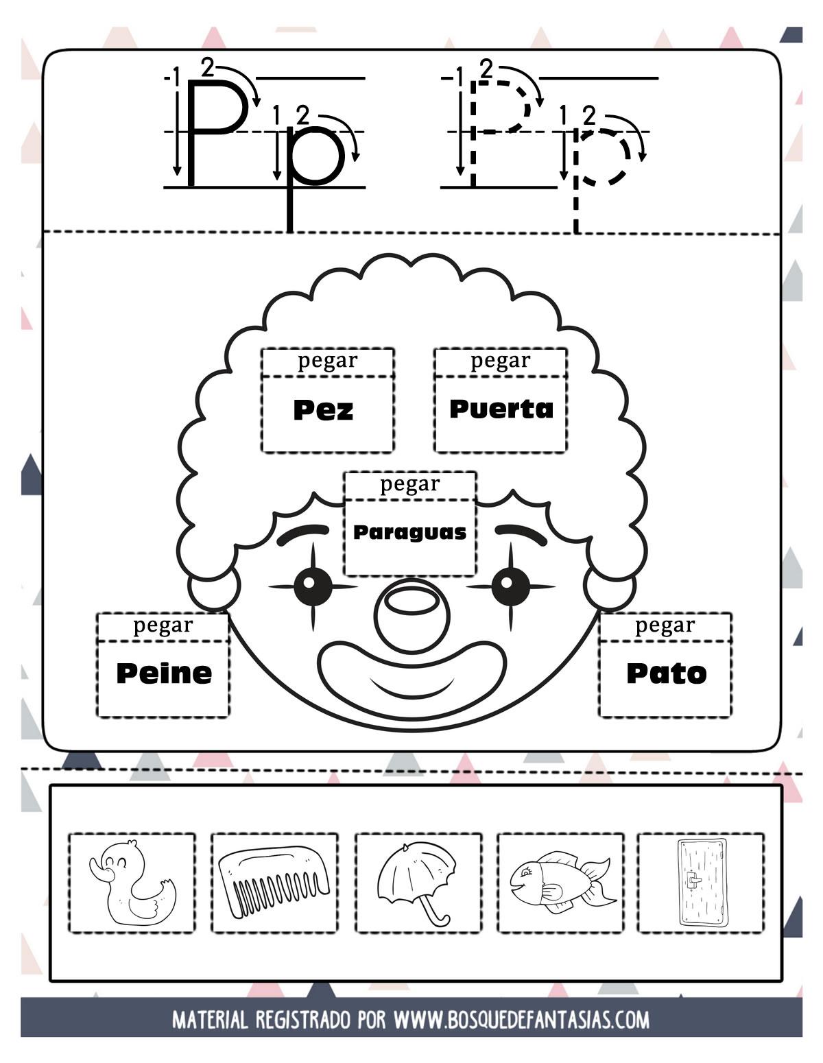 cuaderno para parvulos para colorear en pdf