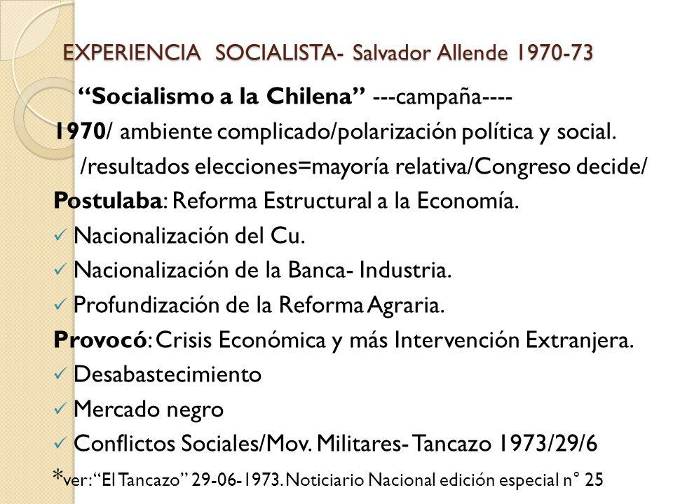allende y la experiencia chilena pdf