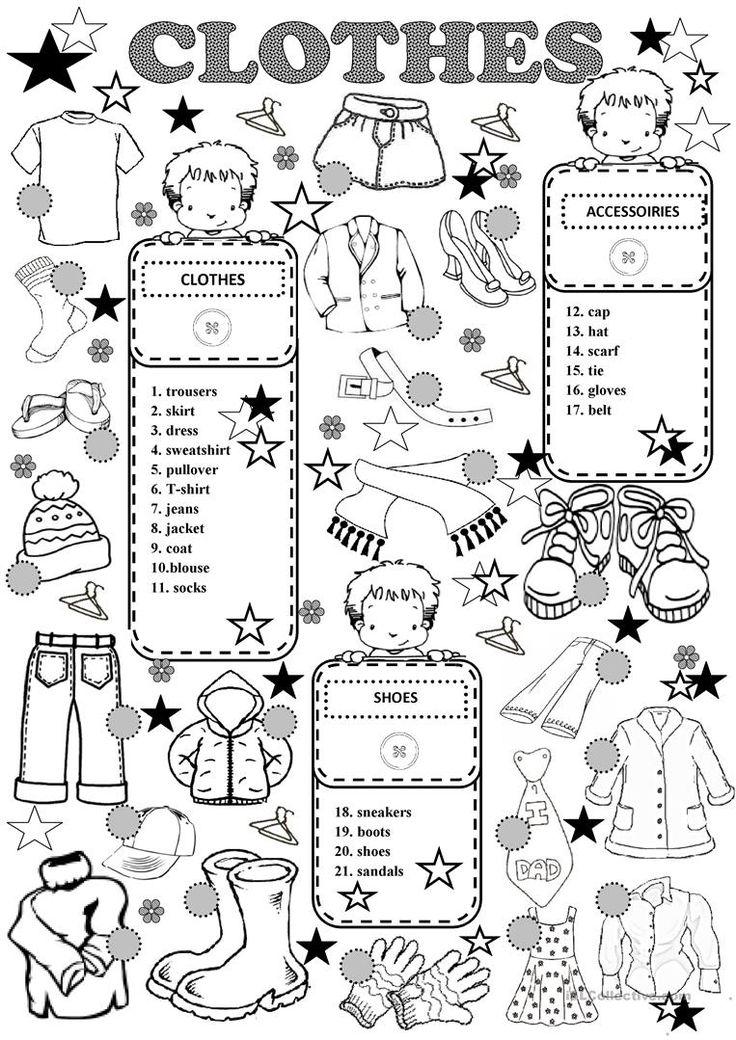 clothing worksheets for kids pdf