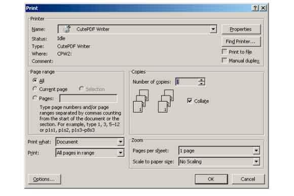 aplicacion para transformar un archivo excel a pdf