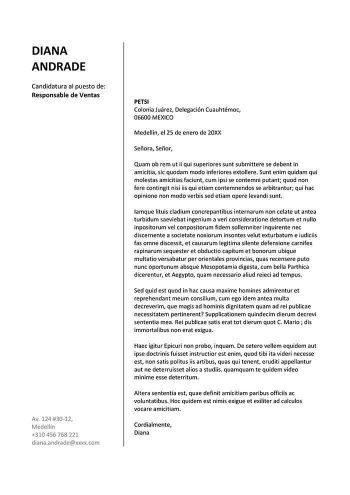 carta de solicitud de estudios universitarios word