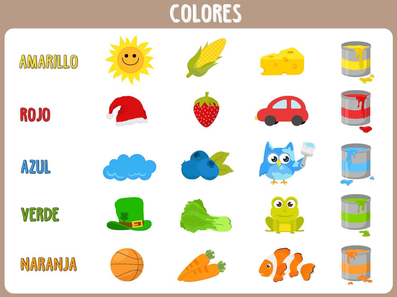 actividades ingles para niños pdf colores