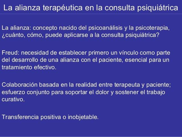 alianza terapéutica en el psicoanalisis pdf