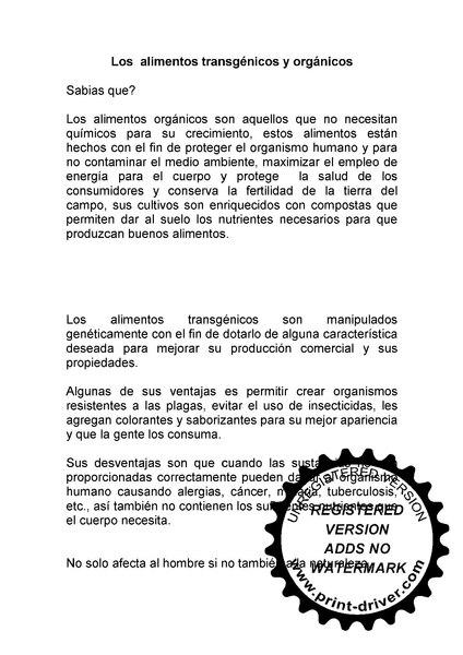alimentos organicos y transgenicos pdf