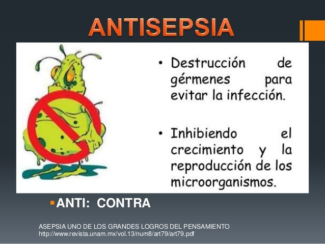 asepsia y antisepsia pdf unam
