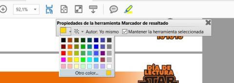 asignar boton color subrayado pdf