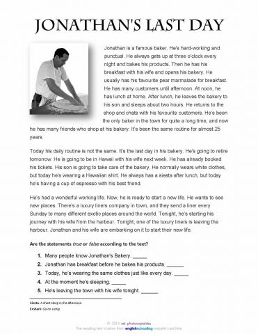 b1 reading comprehension tenses pdf