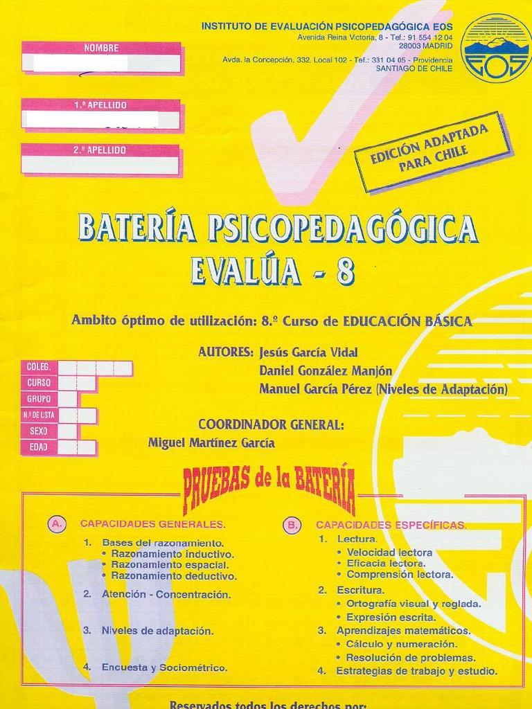 bateria psicopedagogica evalua 4 version 2.0 pdf